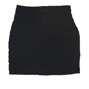 Express black form fitting stretch mini skirt sz 6
